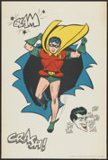 "Batman (National Periodical Publications, 1966). Robin & The Joker Poster (27"" X 40""). Action"