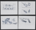 "Movie Posters:Comedy, Ghostbusters II (Columbia, 1989). Storyboard Drawings (5) (8.5"" X11""). Comedy.... (Total: 5 Items)"