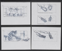 """Ghostbusters II (Columbia, 1989). Storyboard Drawings (5) (8.5"""" X 11""""). Comedy.... (Total: 5 Items)"""