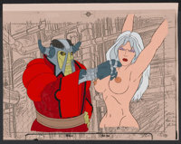 """Heavy Metal (Columbia, 1981). Animation Cels (2) and Production Artwork (2) (10.5"""" X 14""""). Animated.... (Total..."""