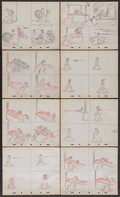Movie Posters:Animated, Donald Duck Storyboards (RKO, 1942). Storyboards (21 Pages).Animated.... (Total: 21 Items)
