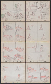 Donald Duck Storyboards (RKO, 1942). Storyboards (21 Pages). Animated.... (Total: 21 Items)