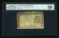 Colonial Notes:New York, New York March 5, 1776 $1 PMG Very Fine 30....