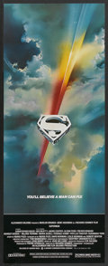 "Movie Posters:Action, Superman the Movie (Warner Brothers, 1978). Insert (14"" X 36"").Action...."
