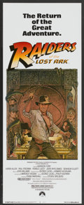 "Movie Posters:Adventure, Raiders of the Lost Ark (Paramount, R-1982). Insert (14"" X 36"").Adventure...."