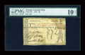 Colonial Notes:Georgia, Georgia (1776) Undated $8 PMG Very Good 10 NET....