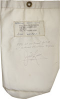 Explorers:Space Exploration, Apollo 8 Flown Pilot's Personal Preference Kit Signed by and fromthe Personal Collection of Mission Command Module Pilot Jame...