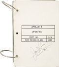 Explorers:Space Exploration, Apollo 8 Flown Update Book Signed by and from the PersonalCollection of Mission Command Module Pilot James Lovell. ...
