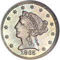 Patterns, 1865 $2 1/2 Quarter Eagle, Judd-439, Pollock-512, Low R.7, PR64Brown NGC....