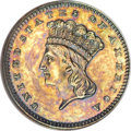 Patterns, 1865 G$1 Gold Dollar, Judd-438, Pollock-511, Low R.7, PR62 BrownNGC....