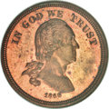 Patterns, 1866 5C Five Cents, Judd-469, Pollock-561, Low R.7, PR64 Red andBrown NGC....