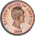 Patterns, 1866 5C Five Cents, Judd-487, Pollock-576, Low R.7, PR62 BrownNGC....