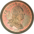 Patterns, 1866 5C Five Cents, Judd-465, Pollock-559, R.8, PR64 Red and BrownNGC....