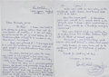 Music Memorabilia:Autographs and Signed Items, Beatles Related - Paul McCartney Handwritten Letter to Prince....