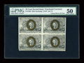 Fractional Currency:Second Issue, Fr. 1286 25c Second Issue Uncut Block of Four PMG About Uncirculated 50....