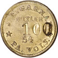 Civil War Tokens, Undated J.A. Garman One Dollar Sutler Token XF45 Uncertified....