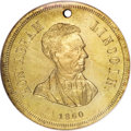 U.S. Presidents & Statesmen, 1860 Lincoln-Hamlin Campaign Medal MS64 NGC....