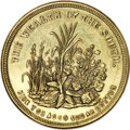 Civil War Patriotics, Wealth of the South Civil War Patriotic Token in Brass,Fuld-511/514b, R.5, Choice Uncirculated Uncertified....
