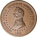 U.S. Presidents & Statesmen, 1860 Abraham Lincoln Presidential Campaign Medal, AUUncertified....
