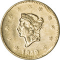 California Gold Charms, Two 1849 British Columbian Gold Tokens.... (Total: 2 tokens)