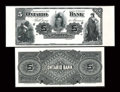Canadian Currency: , Toronto, ON- Ontario Bank $5 June 1, 1888 Ch. 555-18-02P Face andBack Proofs. ... (Total: 2 notes)