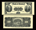 Canadian Currency: , Montreal, PQ- The Bank of Montreal $10 Sep. 3, 1912 Ch. 505-52-04PFace and Back Proofs. ... (Total: 2 notes)