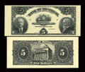 Canadian Currency: , Montreal, PQ- The Bank of Montreal $5 Sep. 3, 1912 Ch. 505-52-02PFace and Back Proofs. ... (Total: 2 notes)