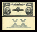 "Canadian Currency: , Montreal, PQ- The Bank of Montreal $20 Jan. 2, 1904 Ch. 505-48-06PFace and Face Counter ""XX"" Proofs. ... (Total: 2 notes)"