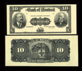 Canadian Currency: , Montreal, PQ- The Bank of Montreal $10 Jan. 2, 1904 Ch. 505-48-04PFace and Back Proofs. ... (Total: 2 notes)