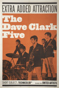 "Music Memorabilia:Posters, Dave Clark Five Short Subject Movie Poster (United Artists, 1964)27"" x 40.5""...."