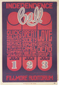 "Music Memorabilia:Posters, Independence Ball Concert Poster BG-14 (Bill Graham, 1966) 14"" x20""...."