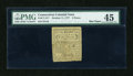 Colonial Notes:Connecticut, Connecticut October 11, 1777 5d PMG Choice Extremely Fine 45....