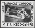 "Movie Posters:Drama, Grand Hotel (MGM, R-1954). Lobby Card (11"" X 14""). Drama...."