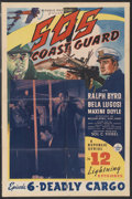 "Movie Posters:Adventure, S.O.S. Coast Guard (Republic, 1937). One Sheet (27"" X 41"") Episode6 -- ""Deadly Cargo."" Serial. ..."