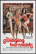 "Movie Posters:Sexploitation, The Swinging Barmaids (Premiere Releasing, 1975). One Sheet (27"" X41""). Sexploitation...."