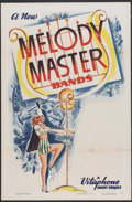 "Movie Posters:Short Subject, Melody Master Bands Stock Poster (Warner Brothers, 1948). One Sheet(27"" X 41""). Short Subject...."