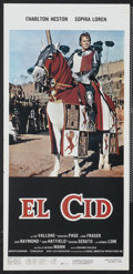"Movie Posters:Adventure, El Cid (Dear Film, R-1970s). Italian Locandina (13"" X 27.5"").Adventure...."