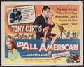 "Movie Posters:Sports, The All American (Universal International, 1953). Half Sheet (22"" X 28"") Style B. Sports...."