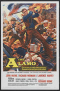 "Movie Posters:Western, The Alamo (United Artists, 1960). One Sheet (27"" X 41"") Tri-Folded.Western...."