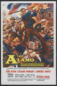 "The Alamo (United Artists, 1960). One Sheet (27"" X 41"") Tri-Folded. Western"