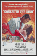 "Movie Posters:Academy Award Winner, Gone with the Wind (MGM, R-1974). One Sheet (27"" X 41"") Tri-Folded.Academy Award Winner...."