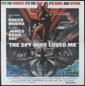 "Movie Posters:James Bond, The Spy Who Loved Me (United Artists, 1977). Six Sheet (81"" X 81"").James Bond...."