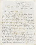 """Military & Patriotic:Civil War, 1865 Manuscript Official Copy of Robert E. Lee's Farewell Address, also known as """"General Order No 9."""" 1¼ pages, 8"""" x 10"""" le..."""