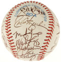 Autographs:Baseballs, 1993 AL All-Star Team Signed Baseball. The winners of the 1993All-Star Game are represented here by the 26 signatures on t...