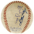 Autographs:Baseballs, 1954 New York Giants World Champion Team Signed Baseball. Thirty-one signatures reside on the offered ONL (Giles) baseball...
