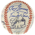 Autographs:Baseballs, 1983 New York Baseball Writers' Dinner Multi-Signed Baseball. Ballcomes to us via a January 1982 dinner held by the New Y...
