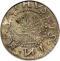 1652 6PENCE Oak Tree Sixpence VF30 PCGS. IN on obverse. Crosby 1b-D, Noe-22, R.5. The S at 3 o'clock is corrected, which...