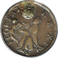(1670-75) FARTH St. Patrick Farthing XF45 PCGS. Breen-218, martlet alone below king. Breen considered this variety to be...