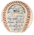 Autographs:Baseballs, 1991 New York Mets Old Timers Day Multi-Signed Baseball. Signed at a 1991 Old Timers event for the New York Mets, this fine...