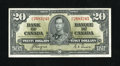 Canadian Currency: , BC-25c $20 1937.. Plenty of embossing remains on this lightlyhandled note. About Uncirculated....